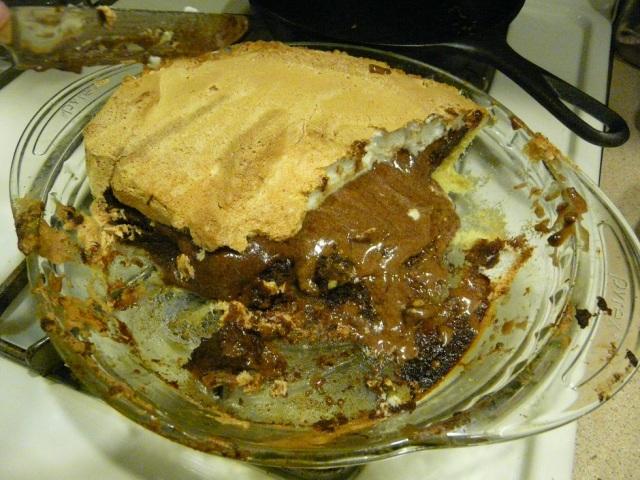 Baked raw pie
