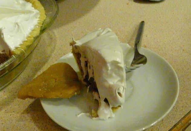 Raw pie slice