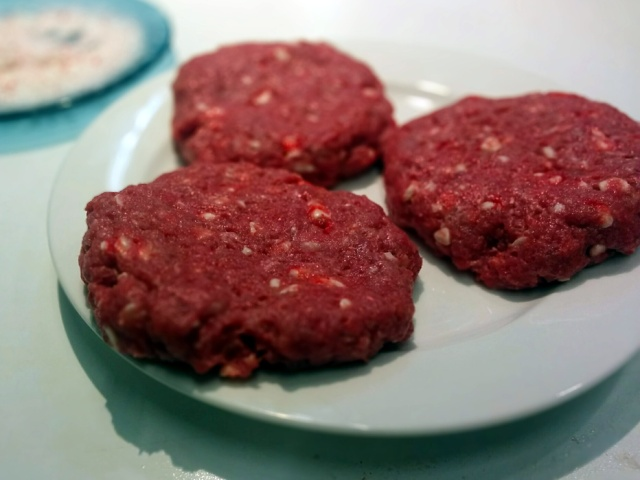 uncooked peppermint (hamburger) patties
